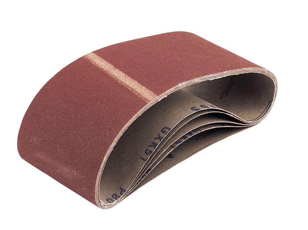 Cloth Sanding Belts Unpunched 560 x 100mm 80 Grit 5 Pack