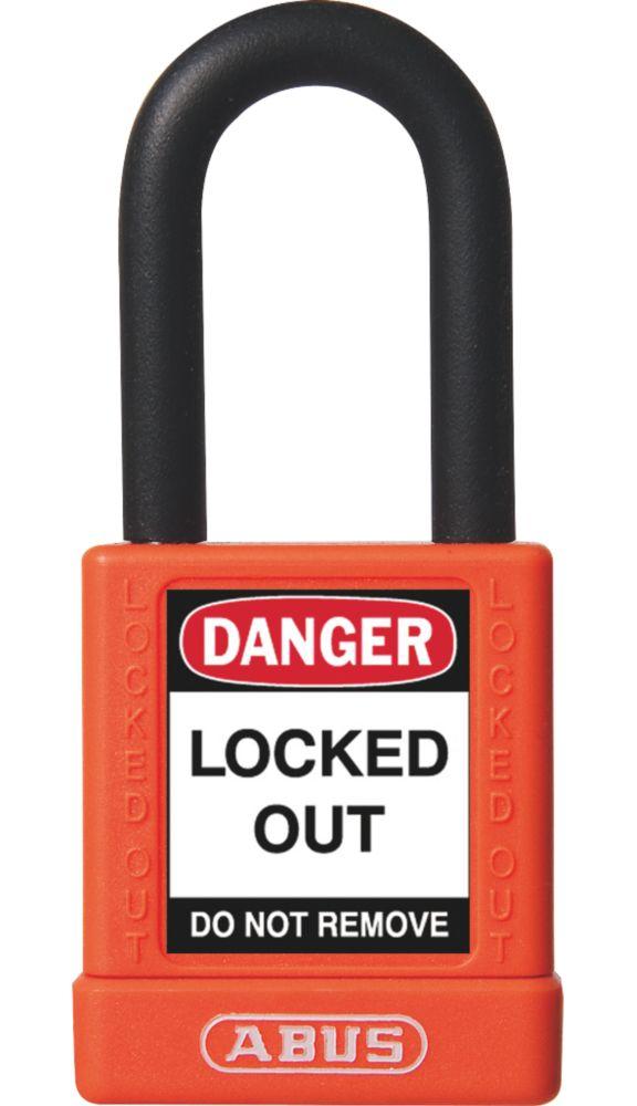 Abus  Aluminium Keyed-Alike Lock-Off Padlock Orange 19 x 38mm