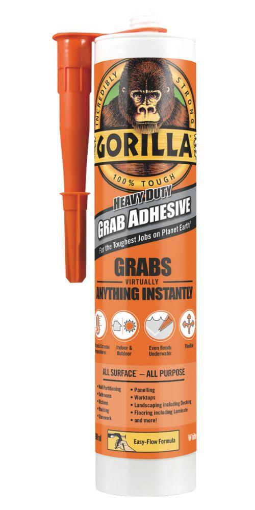 Gorilla Glue 2044000 Solvent-Free Grab Adhesive White 290ml