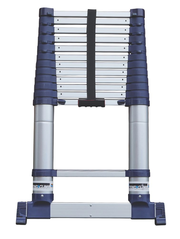 Xtend+Climb  Aerospace Grade Aluminium ProSeries S2 Telescopic Ladder 3.8m