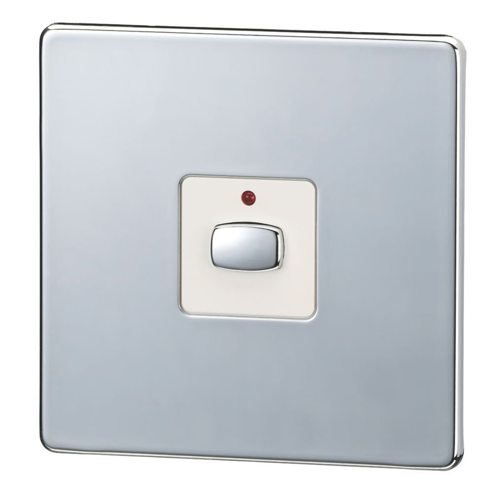Energenie MiHome 1-Gang 1-Way 2A Light Switch Polished Chrome