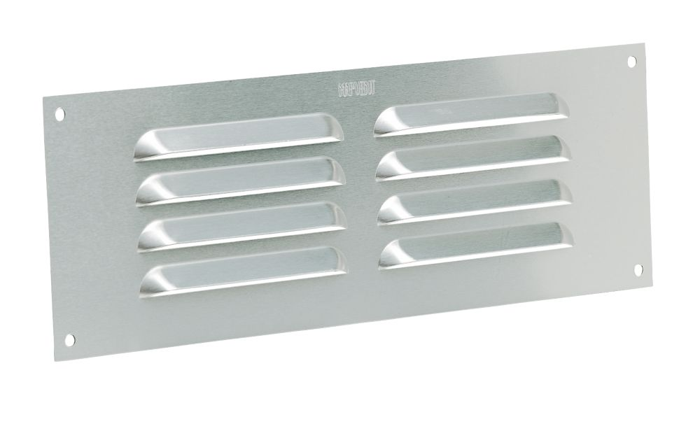 Map Vent Fixed Louvre Vent Silver 229 x 76mm