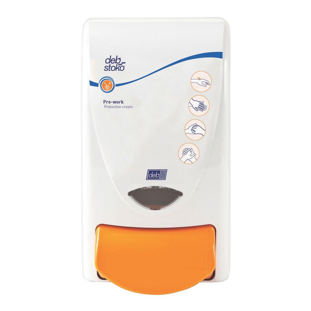 Deb Stoko White Protect Cream Dispenser 1Ltr