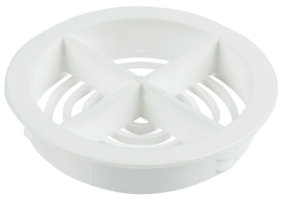 Circular Soffit Vent White 70mm 10 Pack