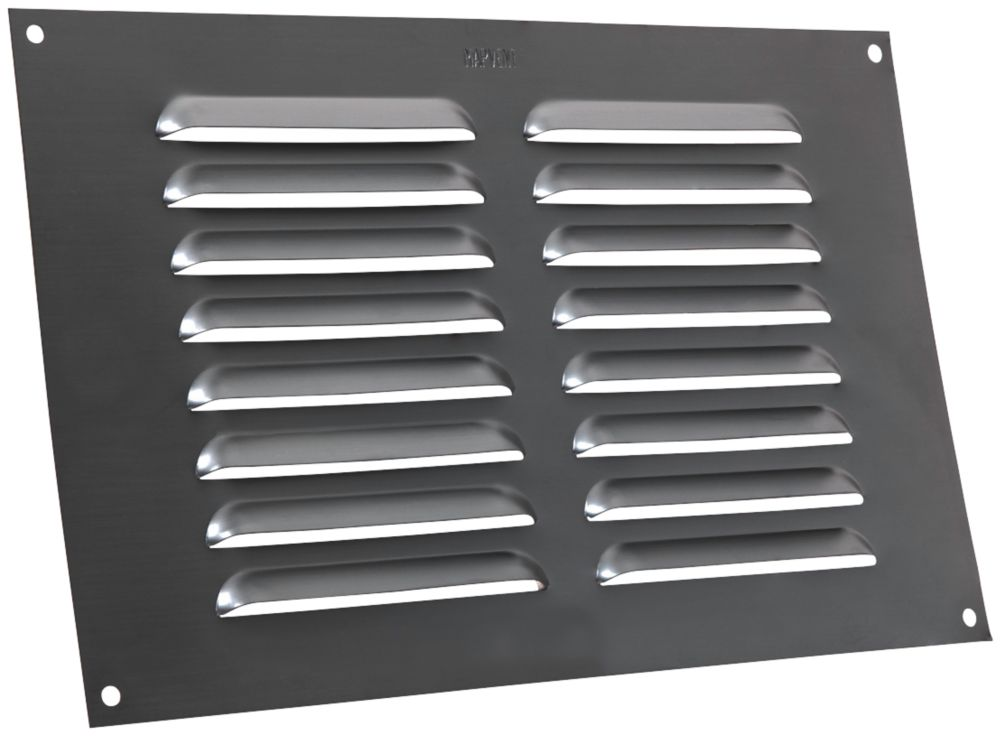 Map Vent Fixed Louvre Vent Matt-Anthracite 229 x 152mm