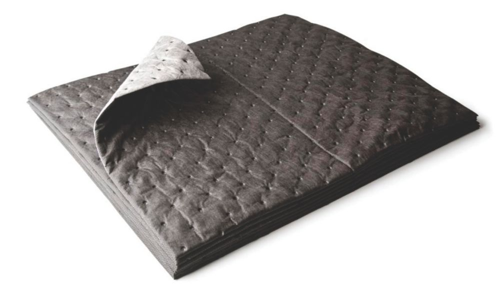 Lubetech Black & White Maintenance Spillage Absorbing Pads 400mm x 500mm 25 Pack