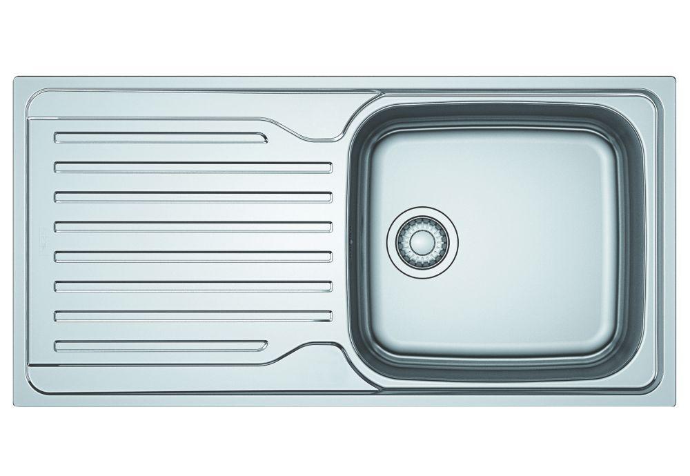 Franke Antea Reversible Inset Sink & Drainer Stainless Steel 1 Bowl 1000 x 500mm