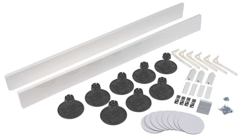 The Shower Tray Company Universal Square Easy Plumb Kit White