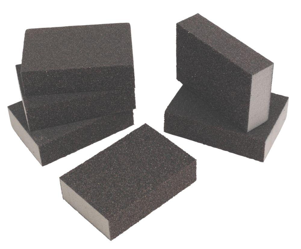 Flexovit Sanding Sponges Medium / Coarse 100 x 68.5mm 6 Pack