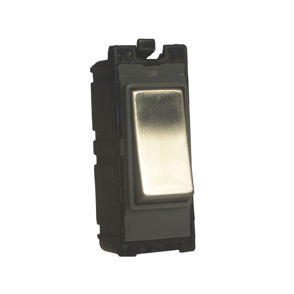 Varilight Z2DG202SS 20A 2-Way Switch Brushed Steel