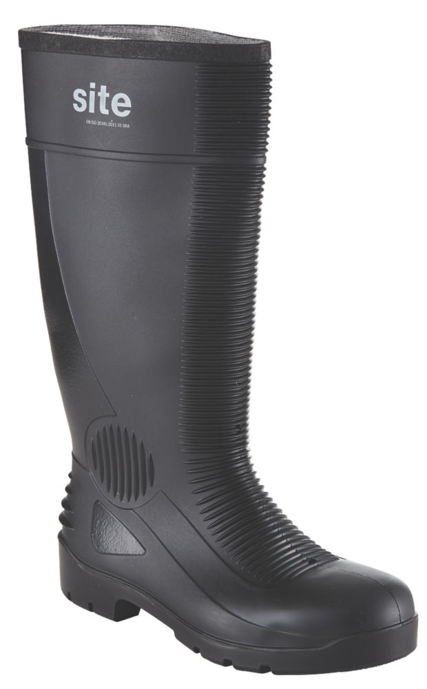 Site Trench   Safety Wellies Black Size 9