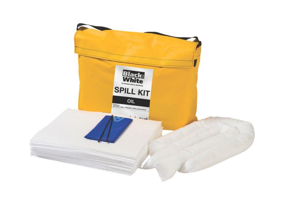 Lubetech Black & White 50Ltr Oil Spill Response Kit