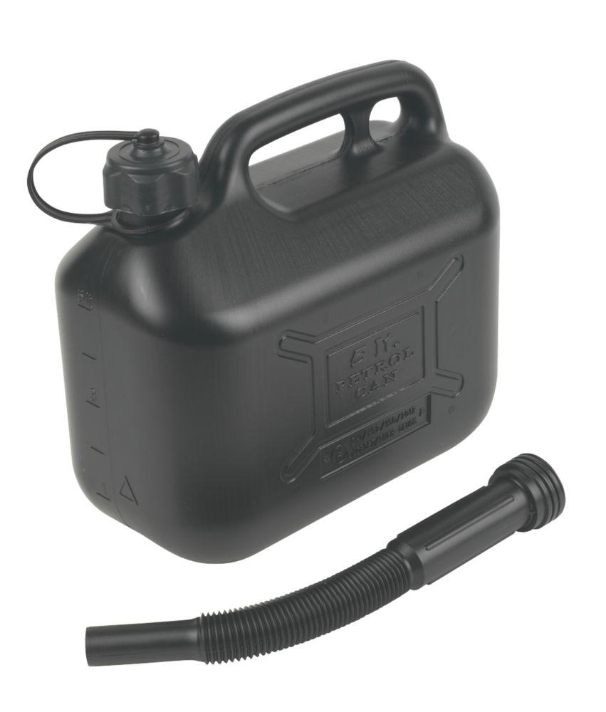 Hilka Pro-Craft Plastic Fuel Can Black 5Ltr