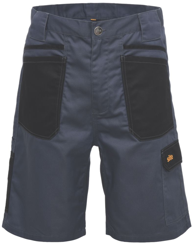 "Site Harrier Multi-Pocket Shorts Grey / Black 30"" W"