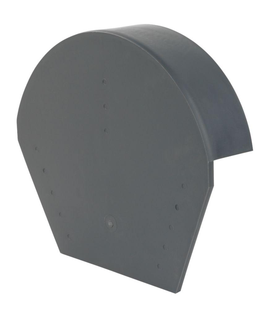 Glidevale Grey Universal Dry Verge Half Round Ridge Caps 2 Pack