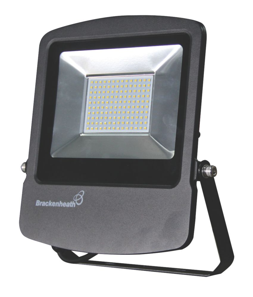 Brackenheath Rex LED Industrial Floodlight & Photocell With Photocell Black 100W