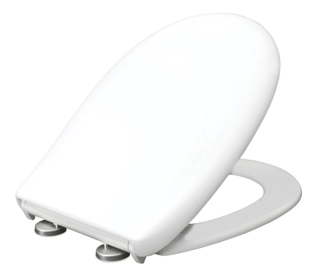 Carrara & Matta Padova Soft-Close with Quick-Release Toilet Seat Thermoset Plastic White