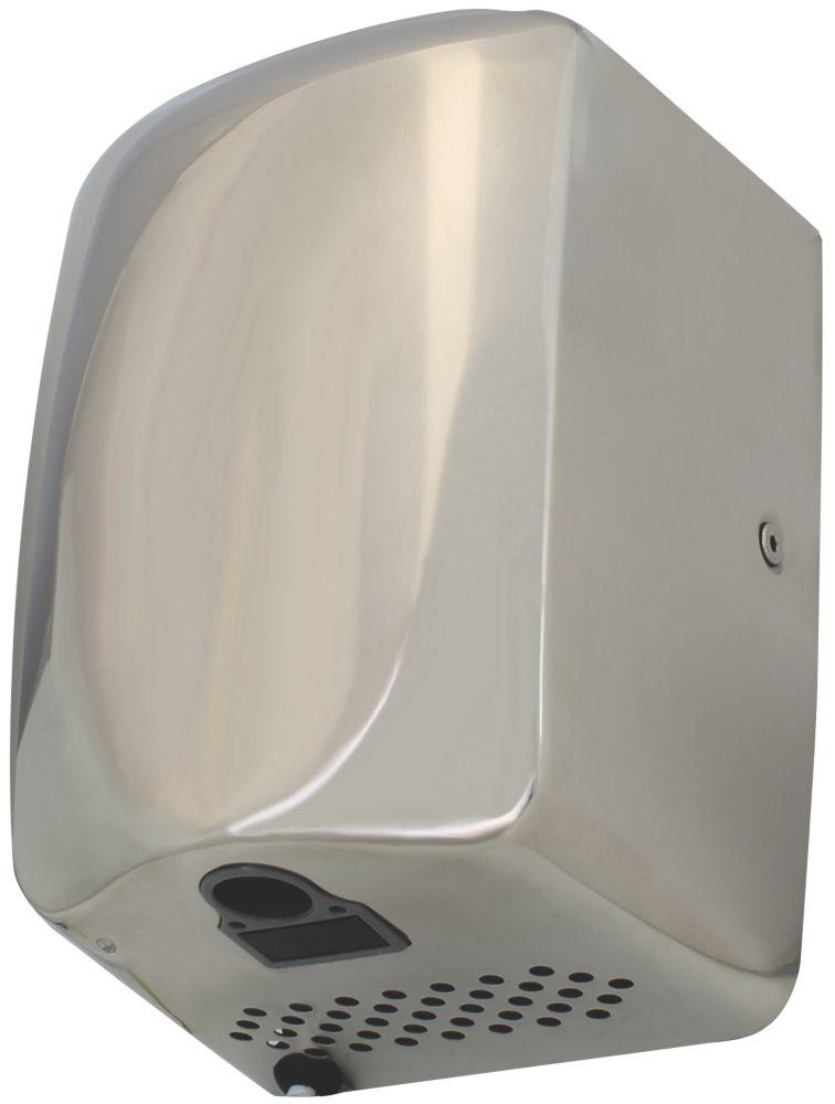 Compact High Speed Hand Dryer Satin Chrome 1.3kW