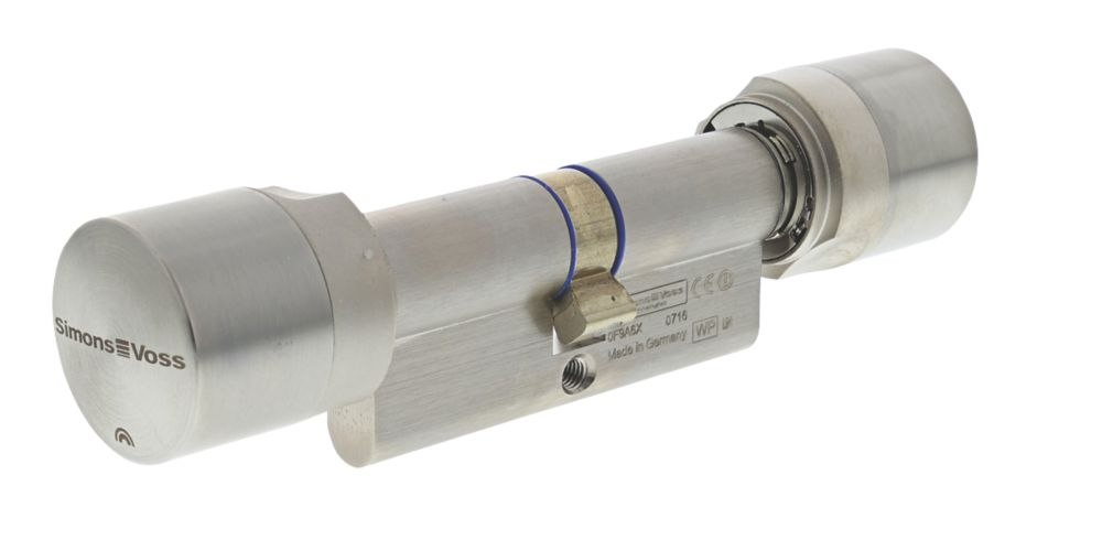 SimonsVoss Digital Euro Profile Cylinder Double-Thumbturn Lock 35-35 (70mm) Satin Stainless Steel