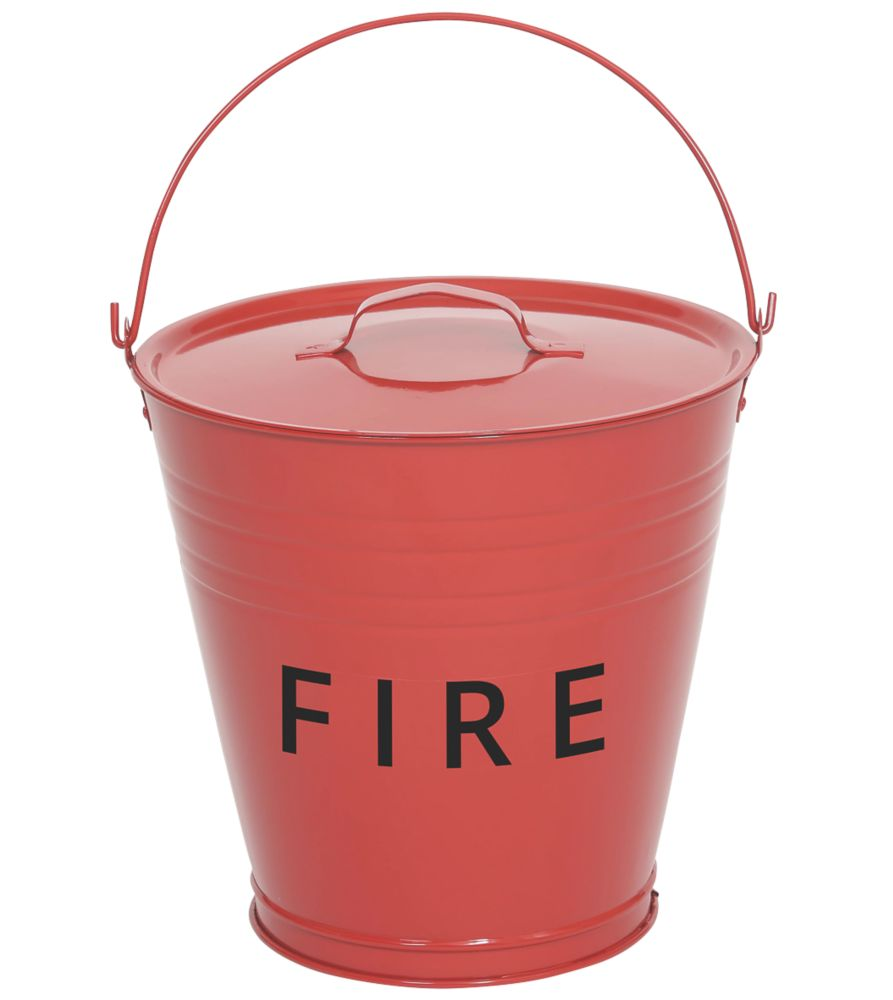 Metal  Fire Bucket & Lid 10Ltr