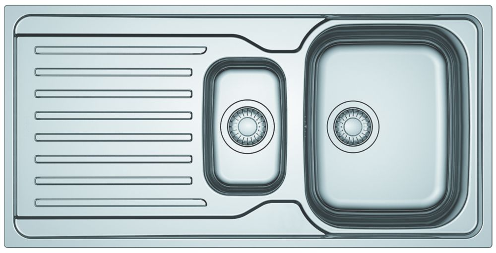 Franke Antea Reversible Inset Sink & Drainer Stainless Steel 1.5 Bowl 1000 x 500mm