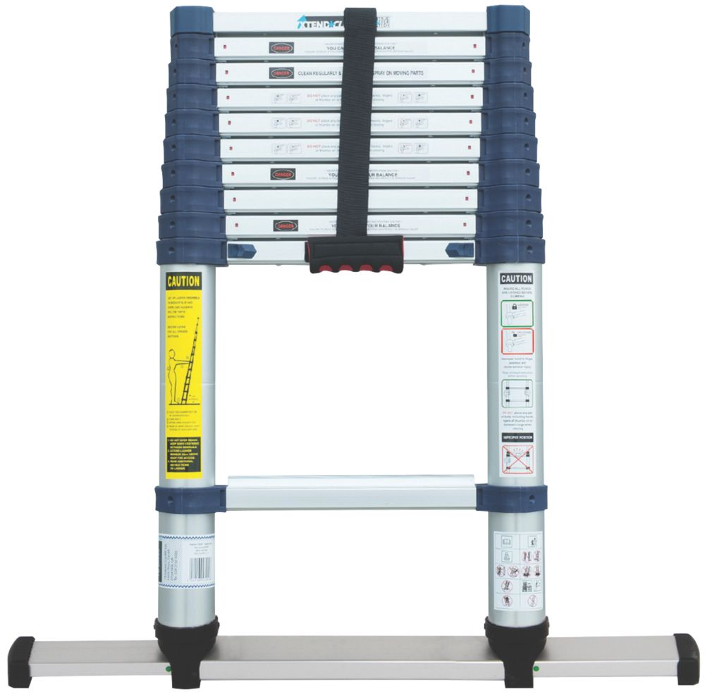 Xtend+Climb Professional  Aerospace Grade Aluminium Telescopic Ladder 3.2m