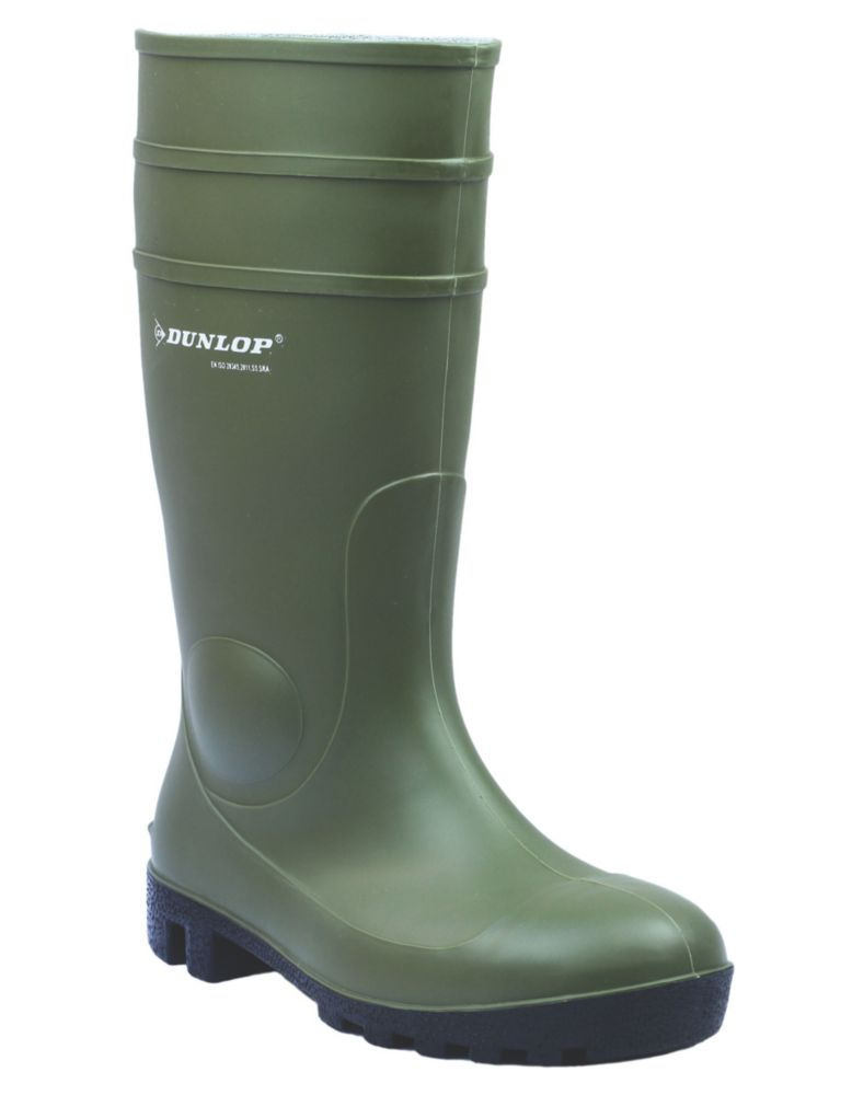 Dunlop Safety Protomastor 142VP   Safety Wellies Green Size 7