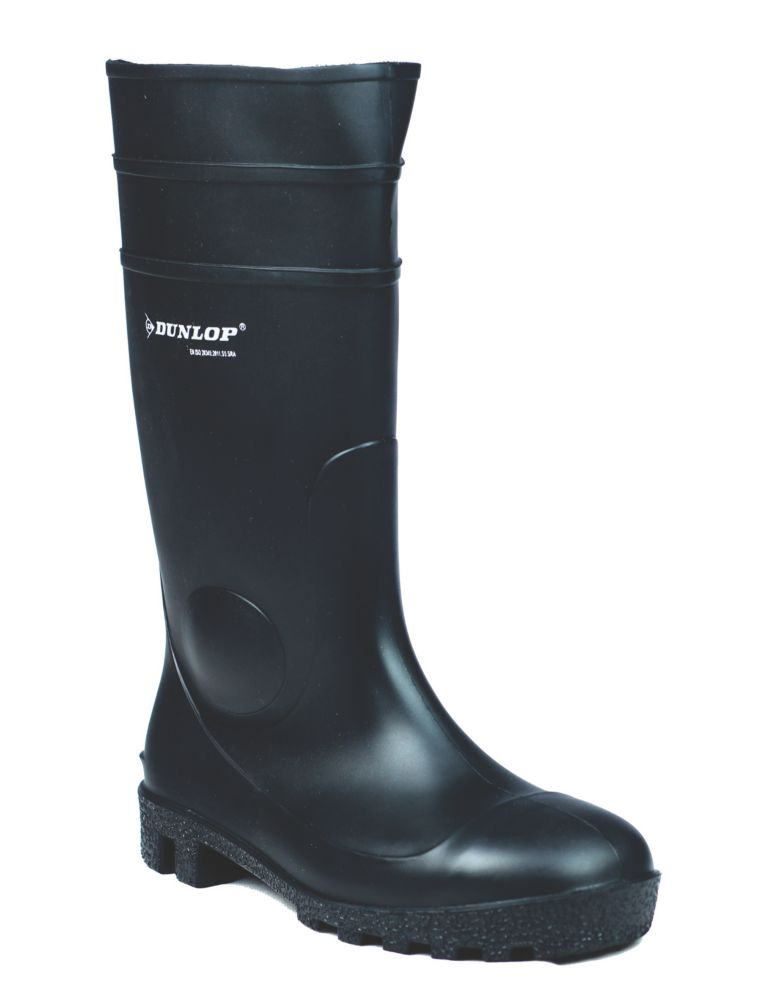 Dunlop Safety Protomastor 142PP   Safety Wellies Black Size 4