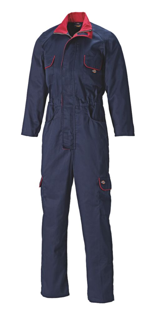 Dickies Redhawk Ladies Zip-Front Coverall Navy Blue Size 20  L