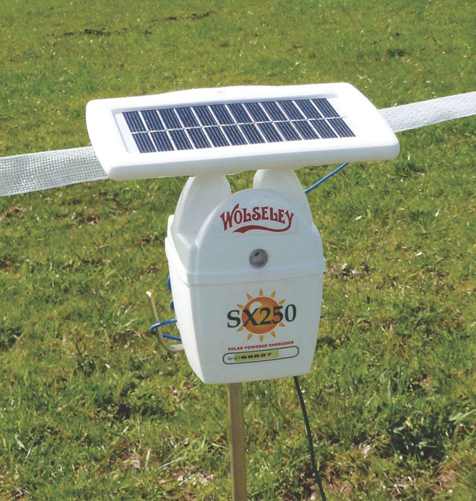 Stockshop SX250 Solar-Powered Electric Fence Energiser Battery-Powered