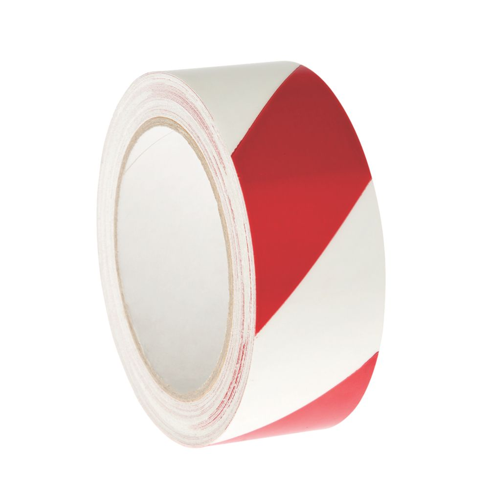 Nite-Glo Chevron Safety Tape Luminescent / Red 10m x 40mm
