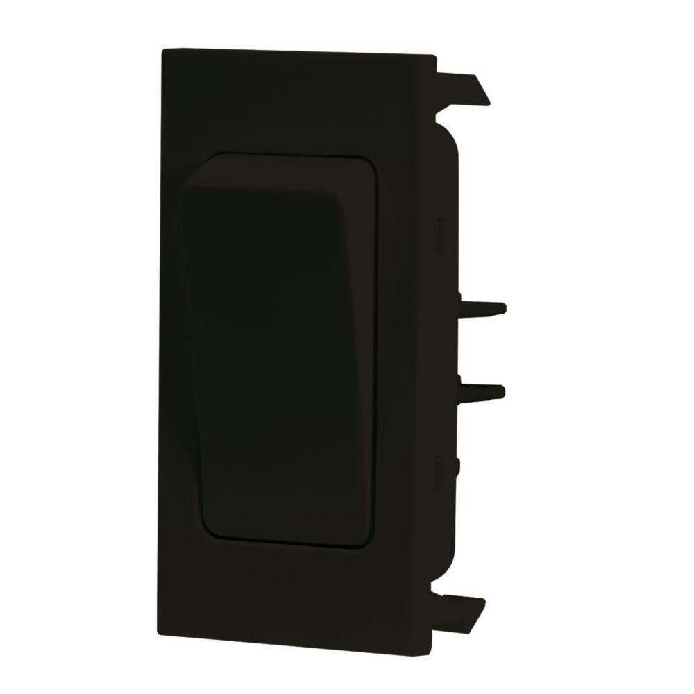 LAP 2-Way 16AX Grid Switch Black