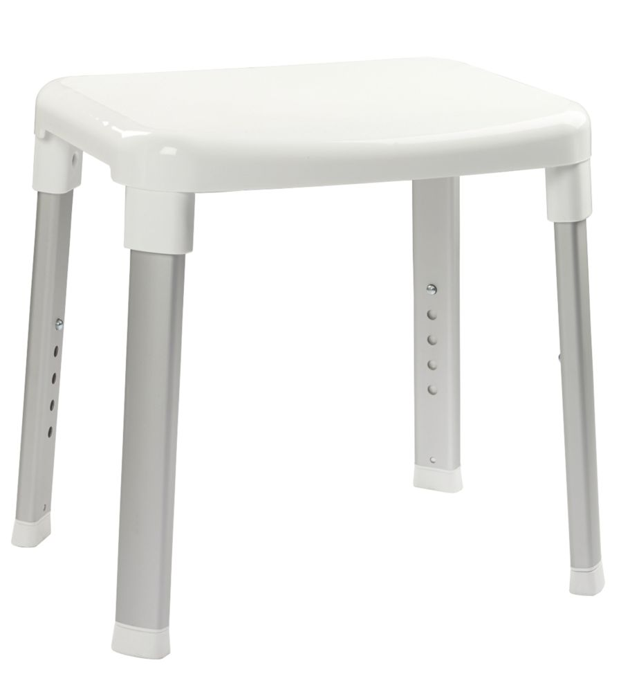 Croydex Freestanding Adjustable Shower Stool White