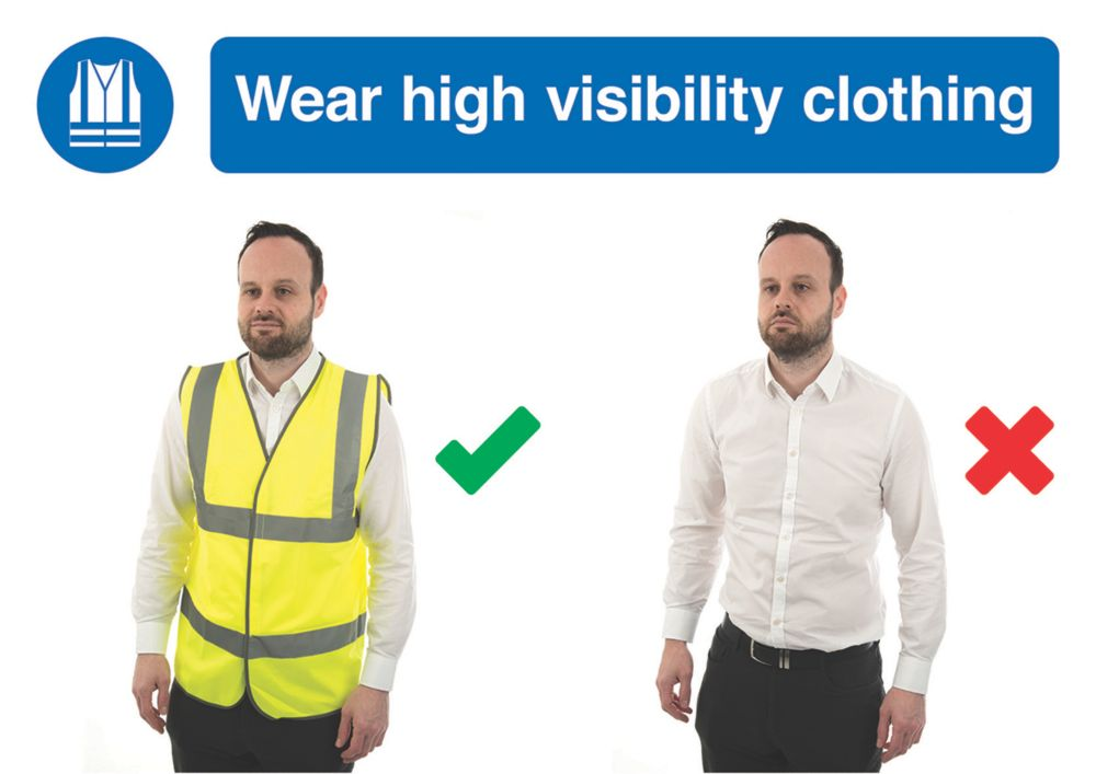 ''Wear High Visibility Clothing'' Sign 420 x 594mm
