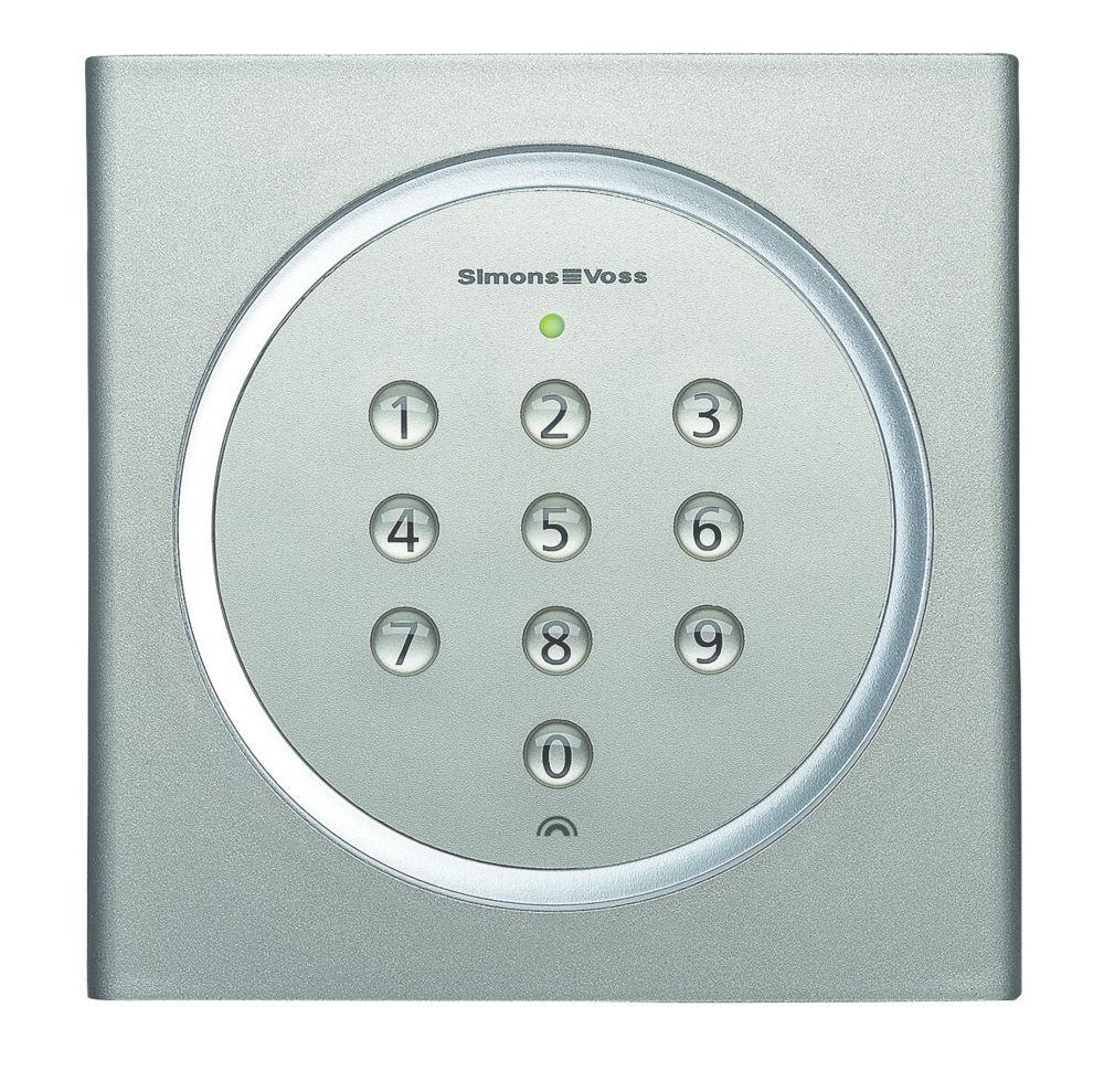 SimonsVoss SV.MK.TRA.PINCODE Battery-Powered MobileKey Pin Code Keypad Silver