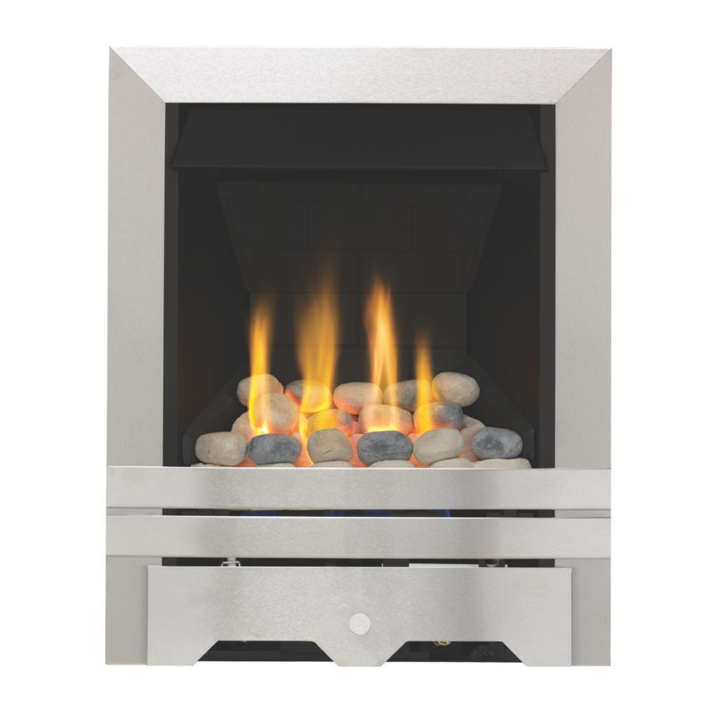 Focal Point Lulworth Stainless Steel Rotary Control Inset Gas Multiflue Fire