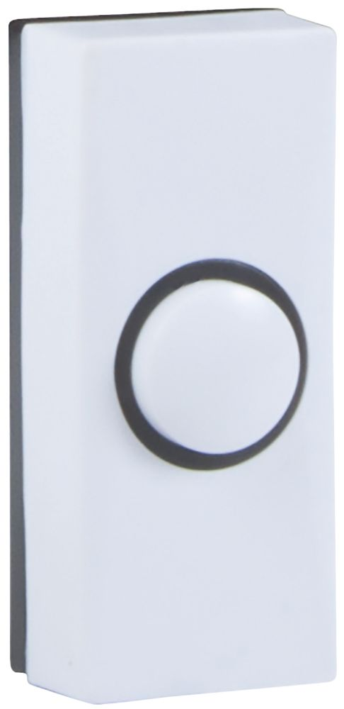 Byron  Wired Doorbell Bell Push White