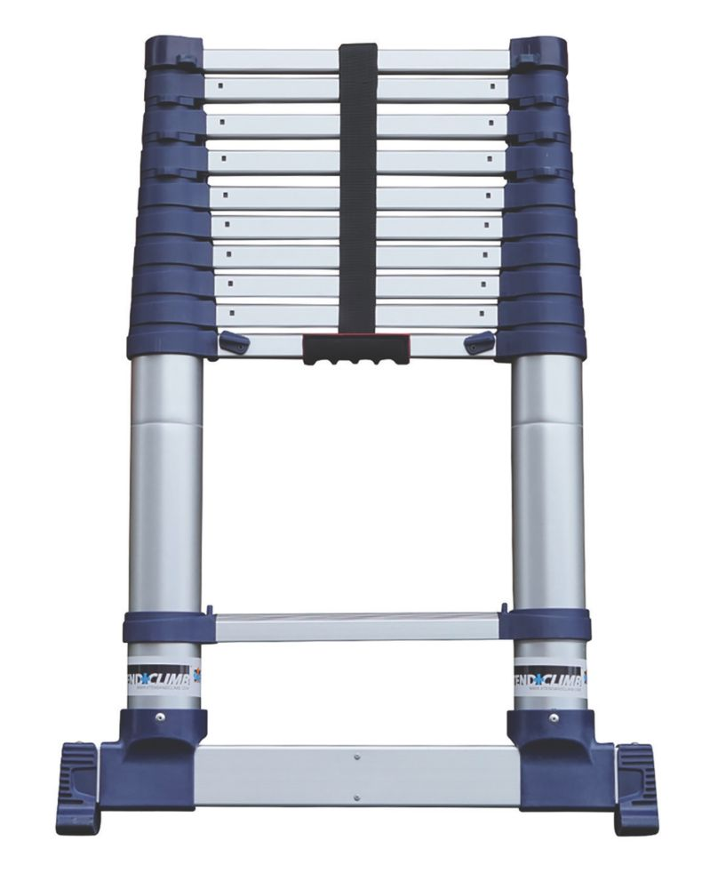 Xtend+Climb  Aerospace Grade Aluminium ProSeries S2 Telescopic Ladder 3.2m
