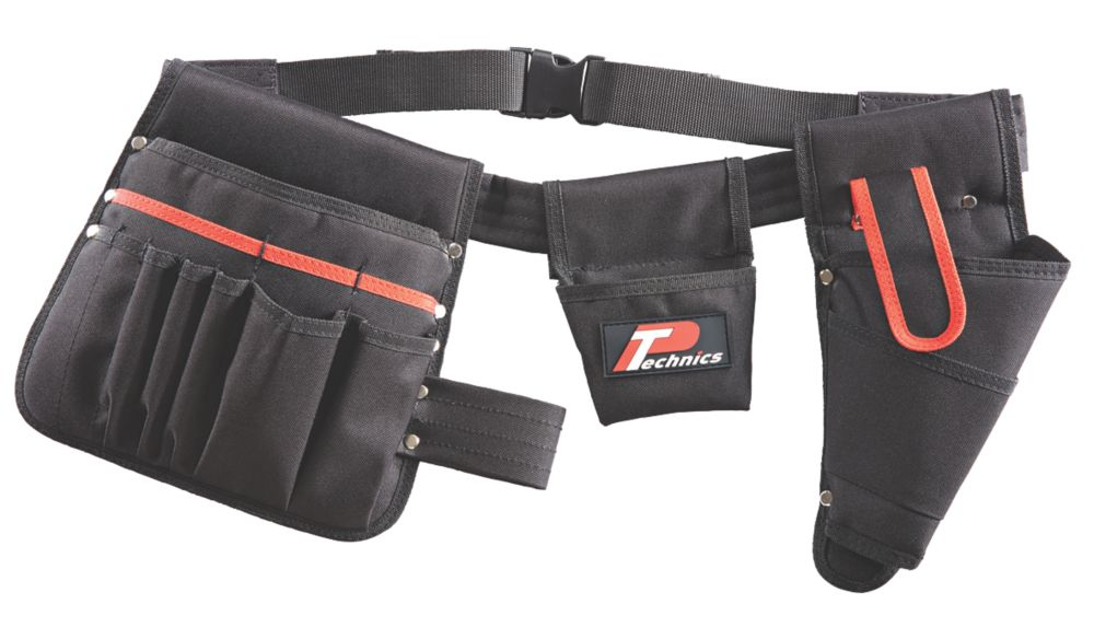 P Technics  Tool Belt with Drill Holster and Pouches 35-47""
