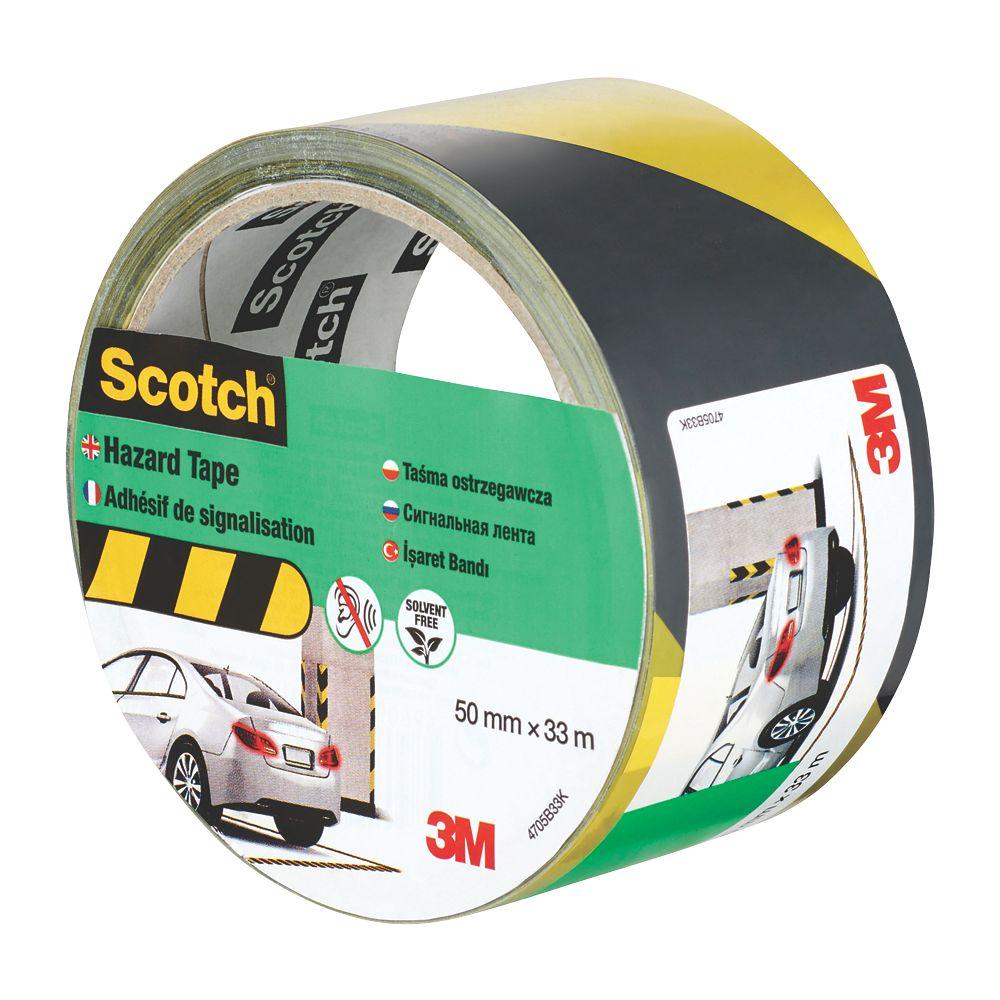 3M Hazard Tape Black / Yellow 33m x 50mm