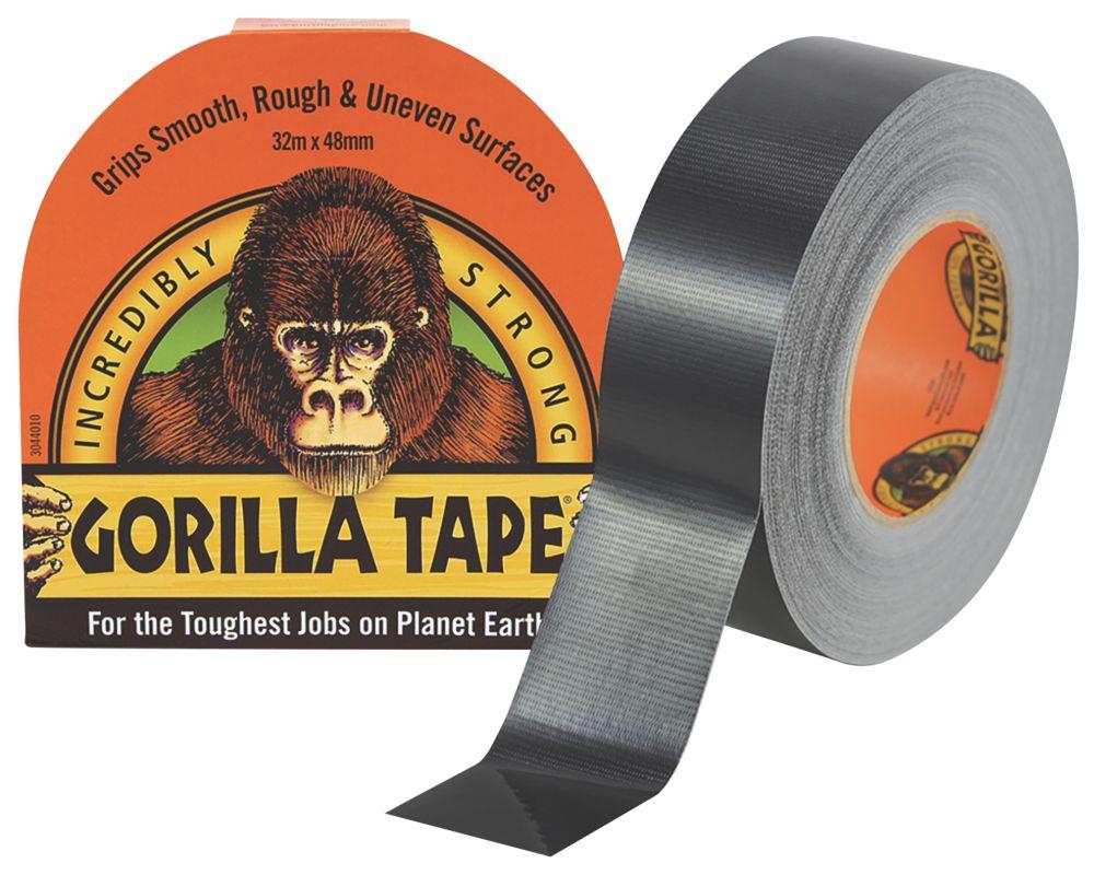 Gorilla Glue Cloth Tape 48 Mesh Black 32m x 48mm