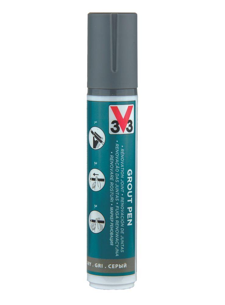 V33  Grout Pen Grey 15ml