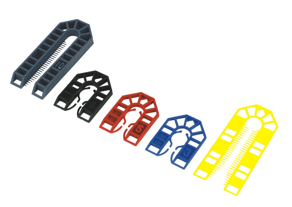 Broadfix Assorted Plastic Shims Medium 200 Pcs