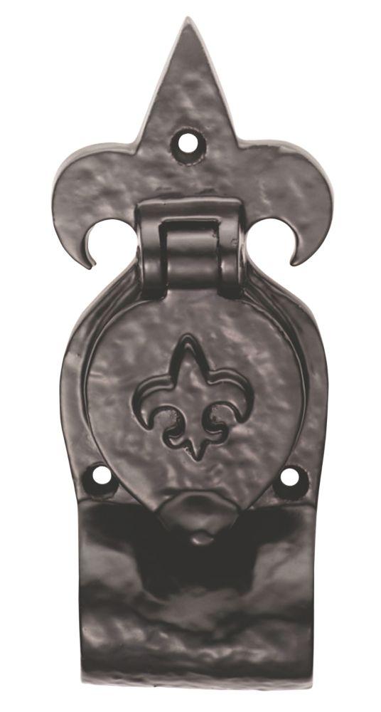 Carlisle Brass Antique Black Fleur-de-Lys Rim Cylinder Pull 63mm