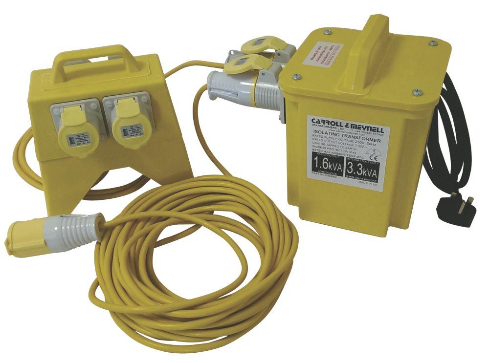 Carroll & Meynell  3.0kVA  Transformer Distribution Kit 230V/110V