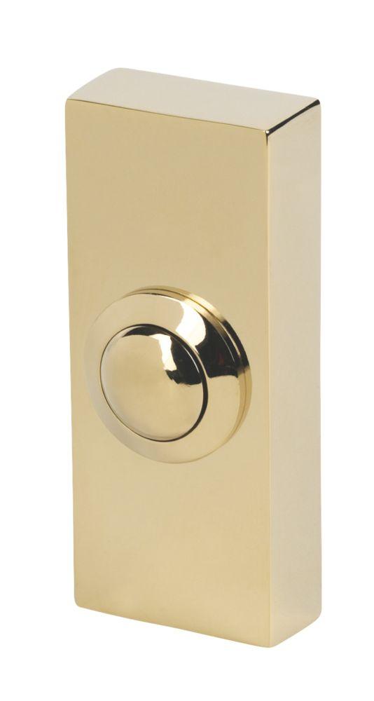Byron 2204 Wired Doorbell Bell Push Brass