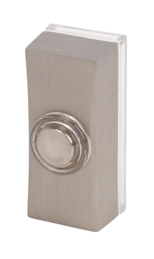 Byron  Wired Doorbell Bell Push Brushed Nickel