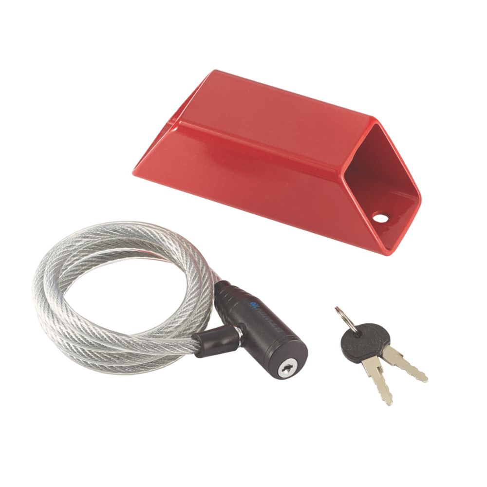 Mottez Wall Lock Anchor Red One Size 50mm