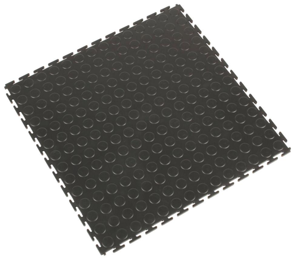 COBA Europe Tough-Lock  Matting Tiles Black 500 x 500mm 4 Pack