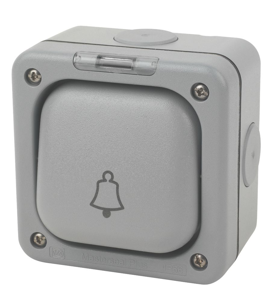 MK  IP66 10A 1-Gang 1-Way Weatherproof Outdoor Bell Switch